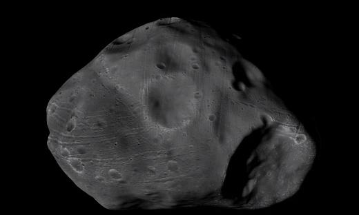 Mars Express a jej pohľad na mesiac Phobos